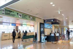 2. There is a rental car counter in front of the Arrival Gate and at the back of the Information Counter.