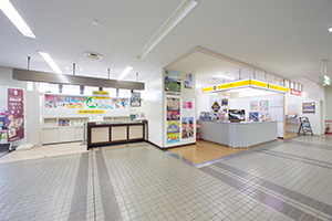 2-2. There are ORIX Rent a Car and Times Car RENTAL counters on the right side in front.