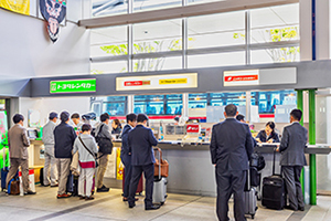 5. There is a rental car counter, so make a procedure at your rental car counter.