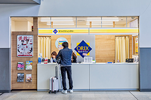 6. Only for ORIX Rent a Car, there is the counter on the left side of the Domestic Arrival Gate.