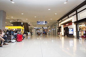 1. The Domestic Arrival Gate is on the second floor in Terminal.