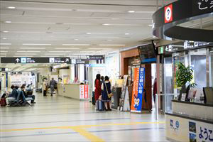 2. The rental car counter stands next to the Information Counter Exit in front of the Arrival Gate.