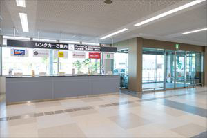 4. Go out from the exit next to the car rental counter.