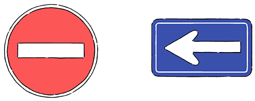 No Entry for Vehicles, Follow the Directions