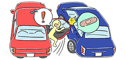 ②When a door opens, the door hits and damages a next car.