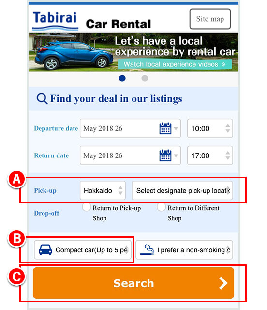 Car Rental Compare >> How To Book And Return The Rental Car In Tabirai Car Rental